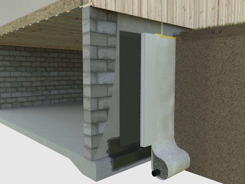 Fuktspärr källaryttervägg