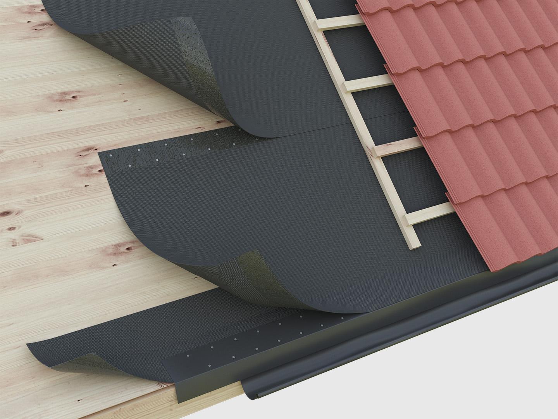 Underlagstäckning till takpannor och profilplåt